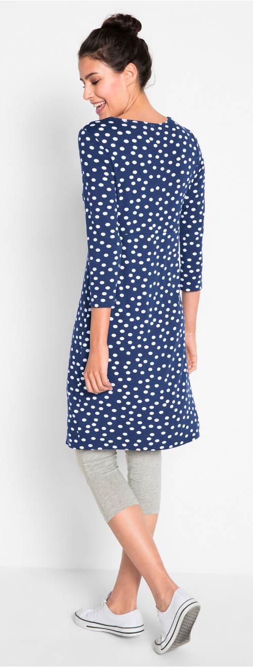 Puntíkované volnočasové šaty