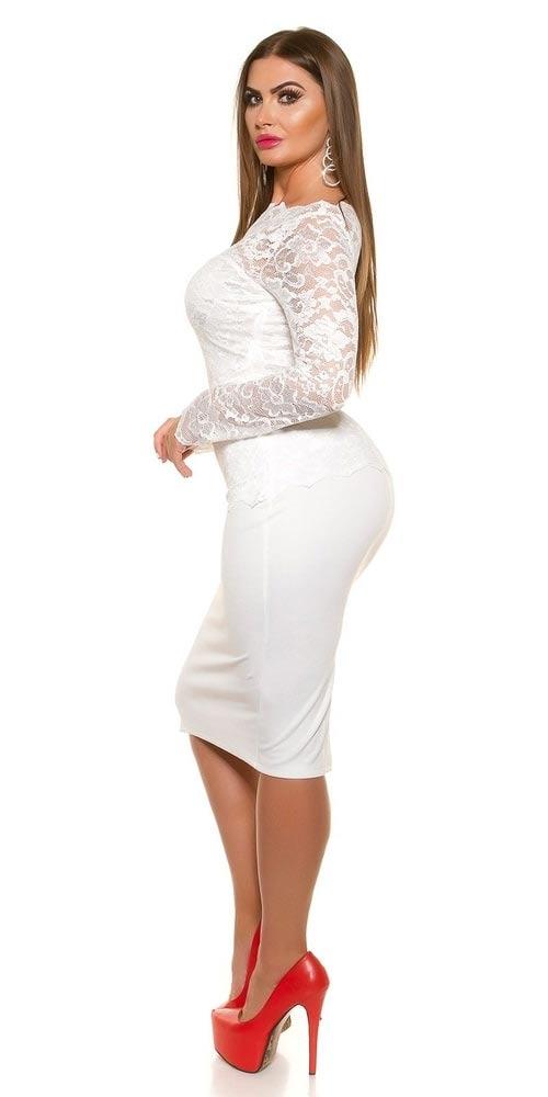 Bílé společenské šaty velkých veikostí