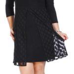 Černá vzdušná tunika/šaty s krajkou