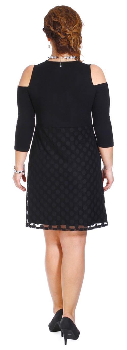 Černé krajkové šaty pro plnoštíhlé