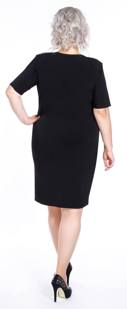 Černé maxi šaty ke kolenům