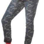 Maskačové army džíny pro plnoštíhlé