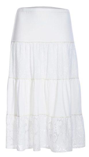 Módní dlouhá letní sukně áčkového střihu