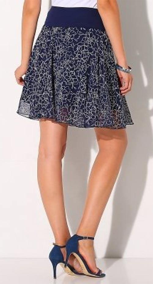 Modrá dámská letní sukně