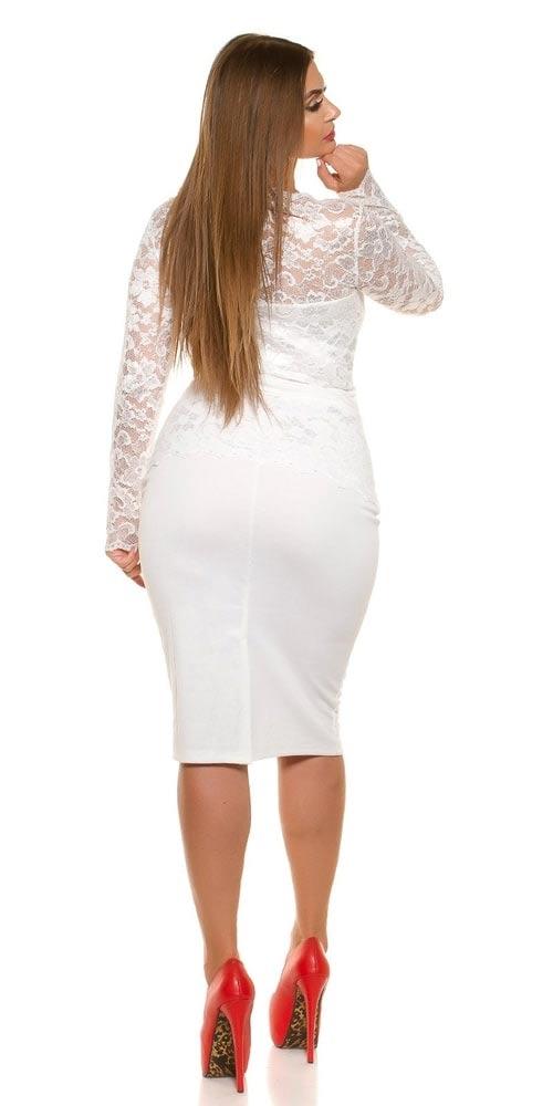 Plesové šaty pro boubelky