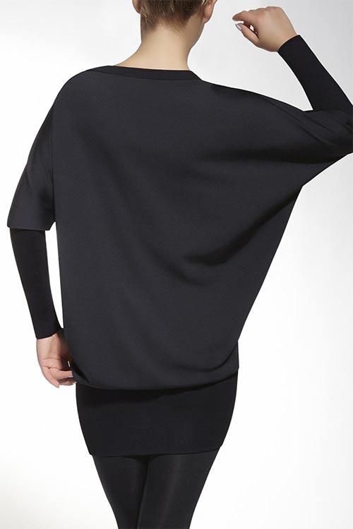 Těhotenská tunika s netopýřími rukávy