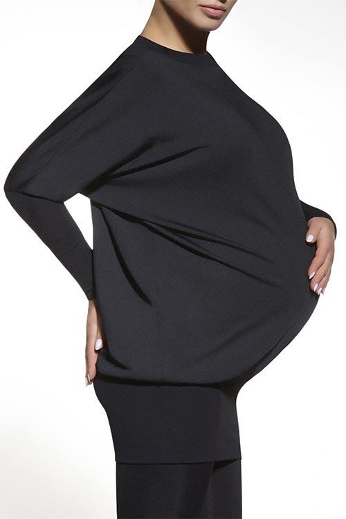 Tmavé těhotenské tričko