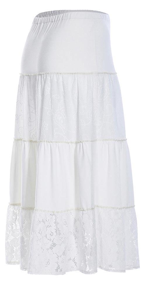 Volná sukně s gumou v pase