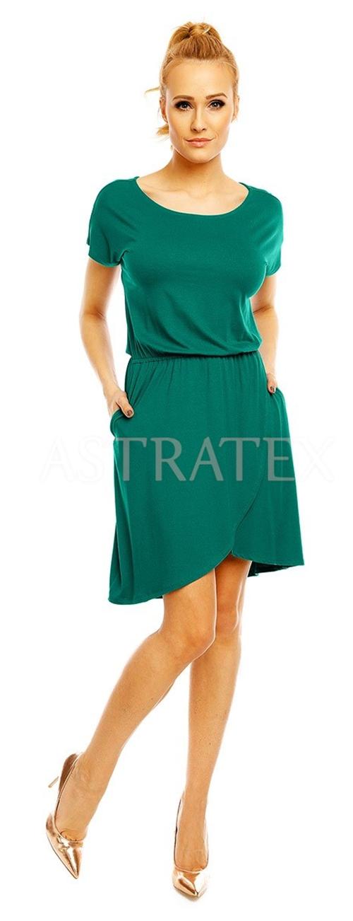 Zelené šaty větších velikostí