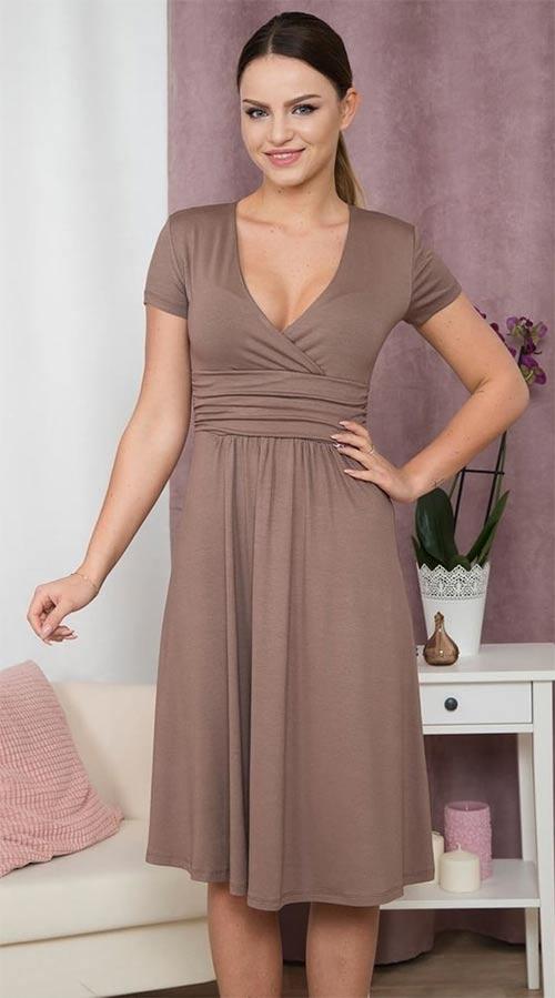 7540040cffe44 Dámské elegantní XXL šaty