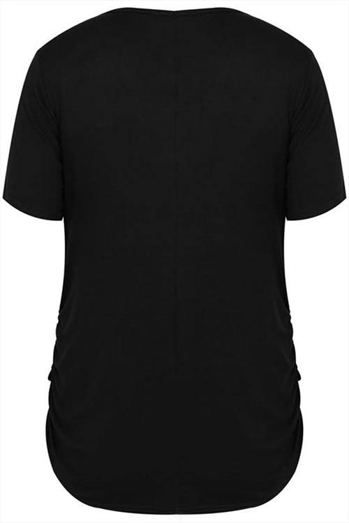 Dlouhé tričko pro plnoštíhlé
