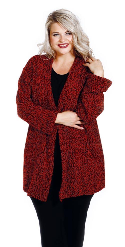 Hřejivý svetrový dámský kabátek