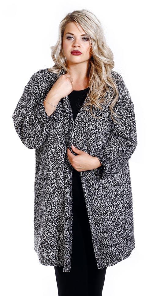 Měkký pohodlný kabátek volného střihu až do velikosti 6XL