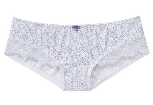 Pohodlné kalhotky s krajkovou nohavičkou
