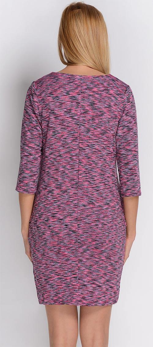Růžovo-šedé žíhané šaty