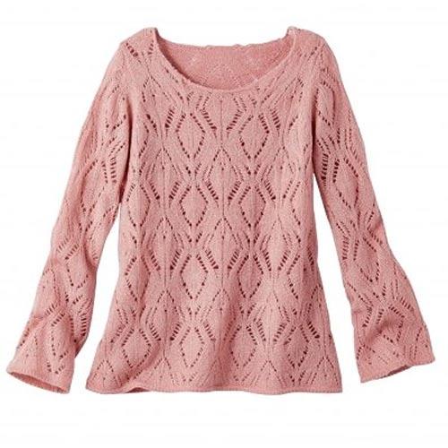 Růžový jarní svetr