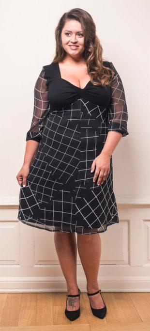 Šifonové společenské šaty nadměrných velikostí