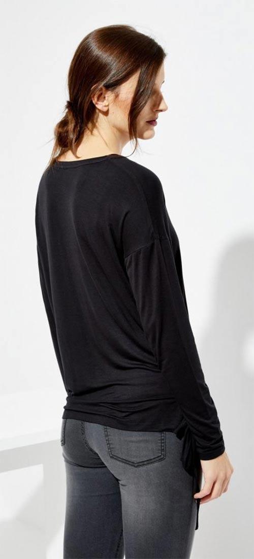 Černé těhotenské tričko