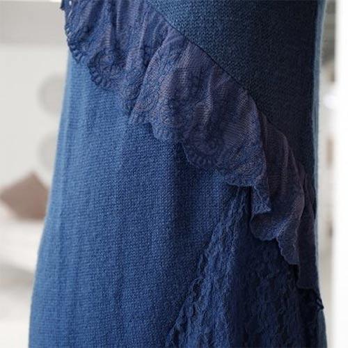 Šaty s krajkovým volánkem