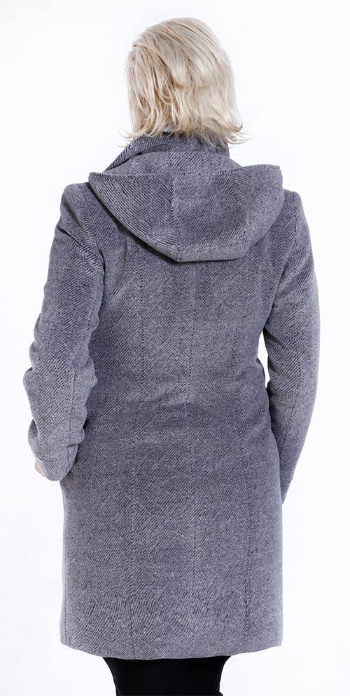 Šedý dámský zimní kabát