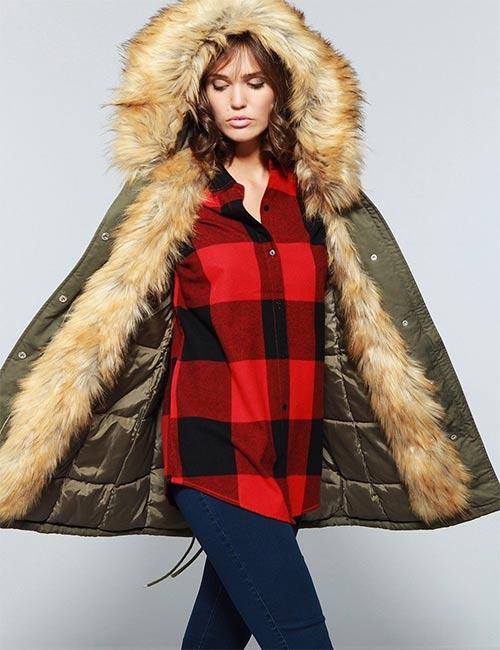 Zimní bunda pro plnoštíhlé