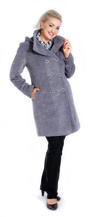 Zimní kabátek s odepínací kapucí