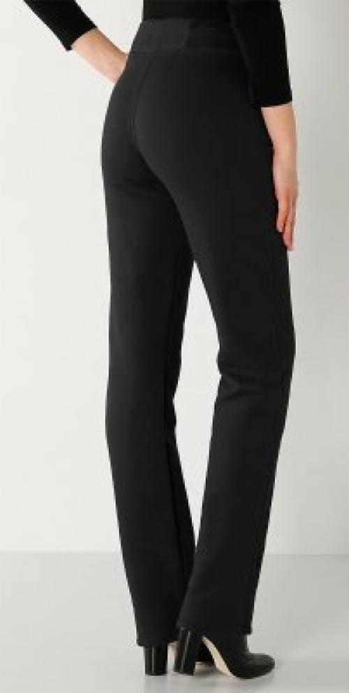 Černé vyšší kalhoty