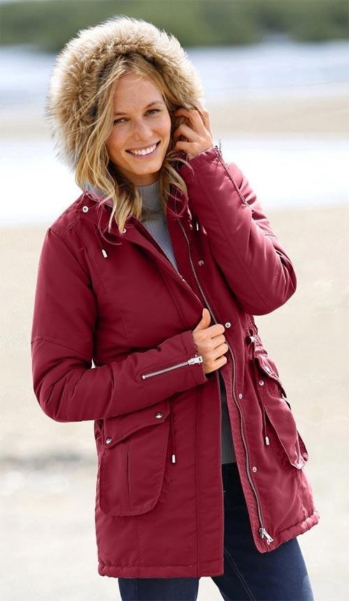 Červená dámská bunda