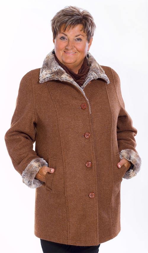 Dámské flaušové paleto/kabát pro starší