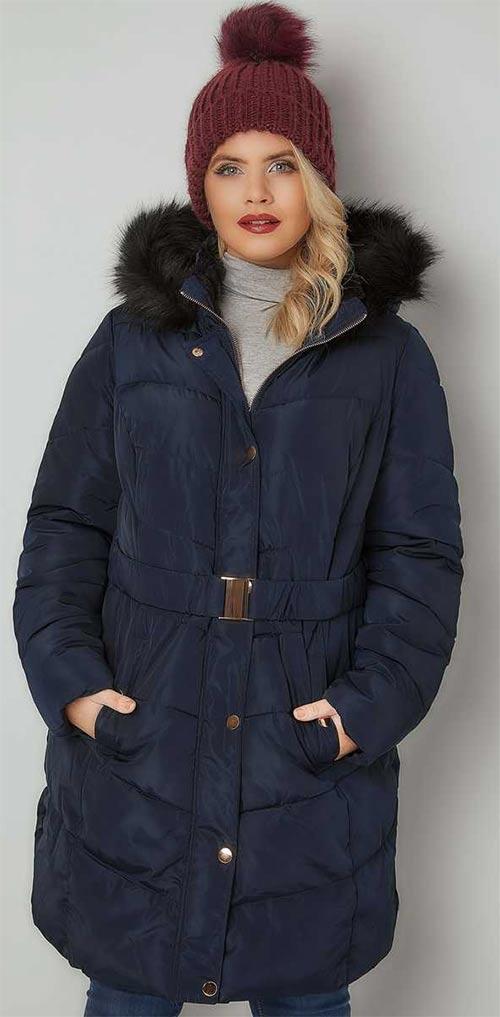 Dlouhá dámská zimní bunda