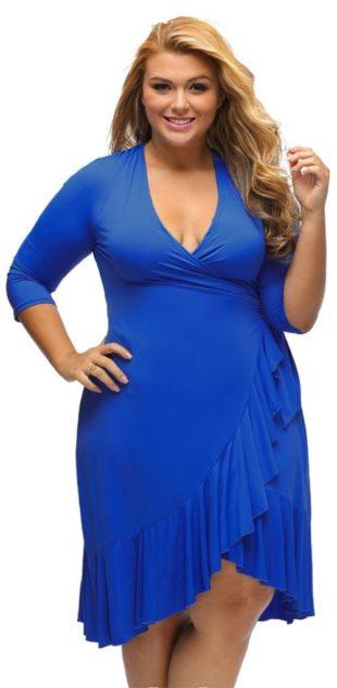 Modré zavinovací šaty