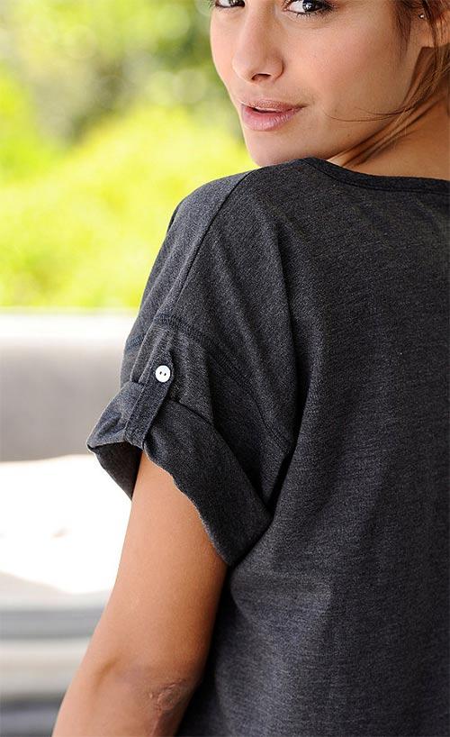 Noční košilka s krátkým rukávem