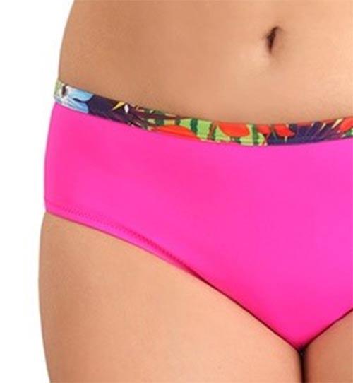 Růžové plavkové kalhotky