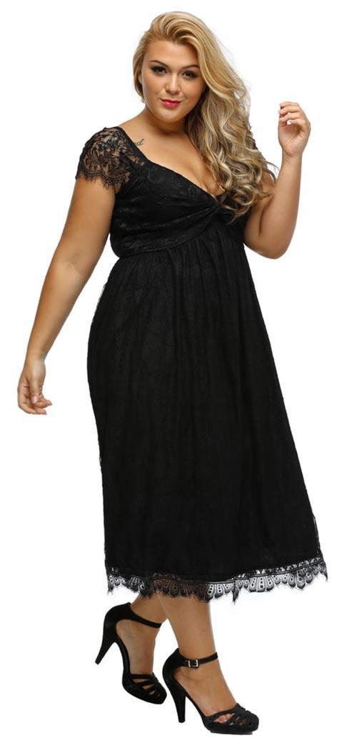 Volné společenské šaty