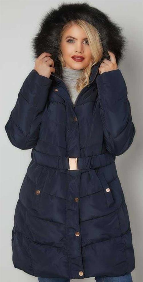 Zimní bunda s páskem