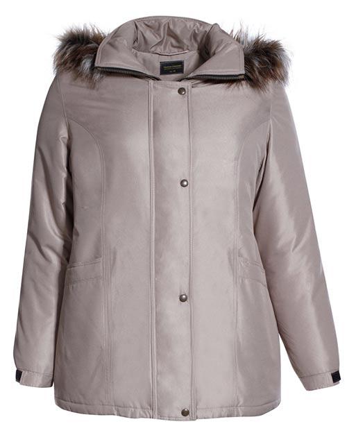 Zimní bunda s chlupatou kapucí