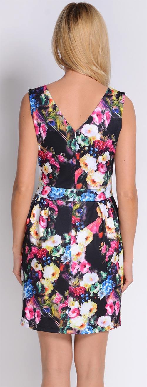 Barevné květované šaty