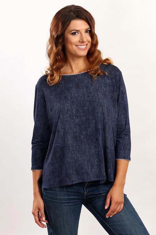 Dámské oversize tričko s tříčtvrtečními rukávy