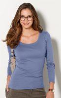 Jednoduché dámské tričko s dlouhými rukávy