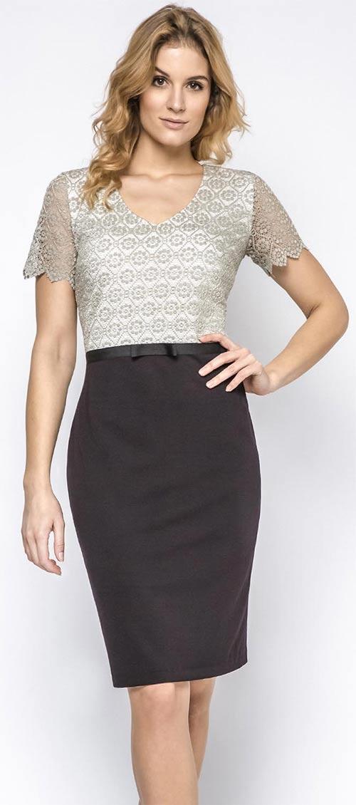 Krajkové šaty Ennywear tužkového střihu