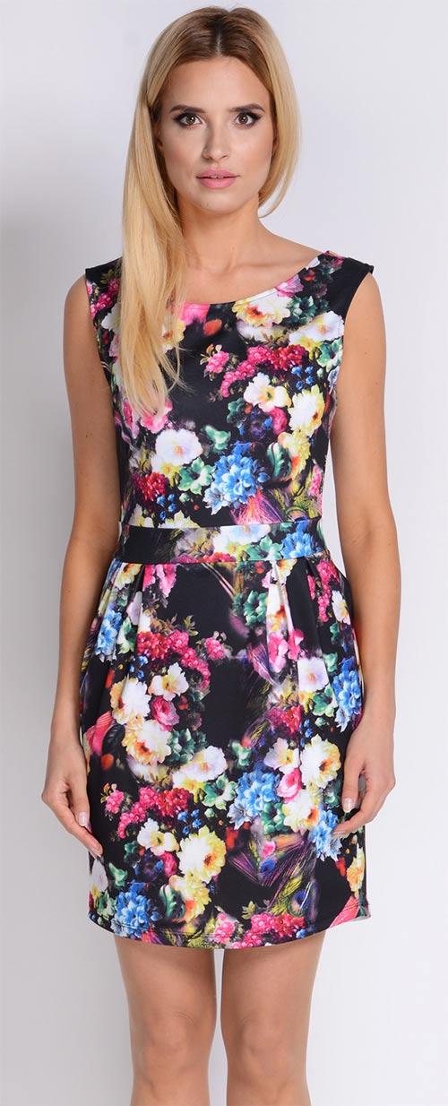 Letní midi šaty s opaskem