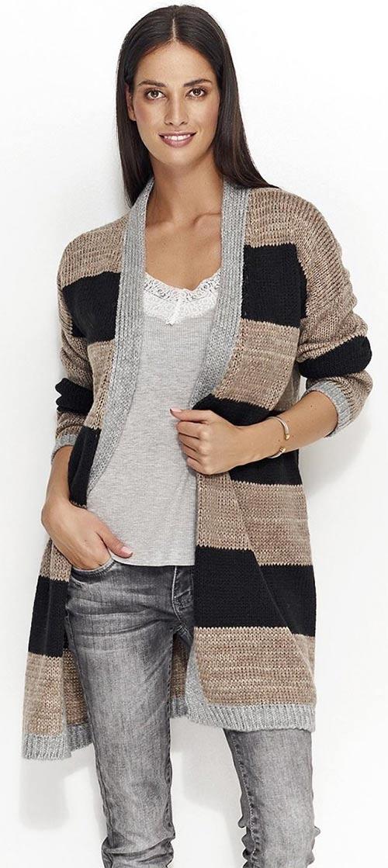 Pletený svetr bez zapínání