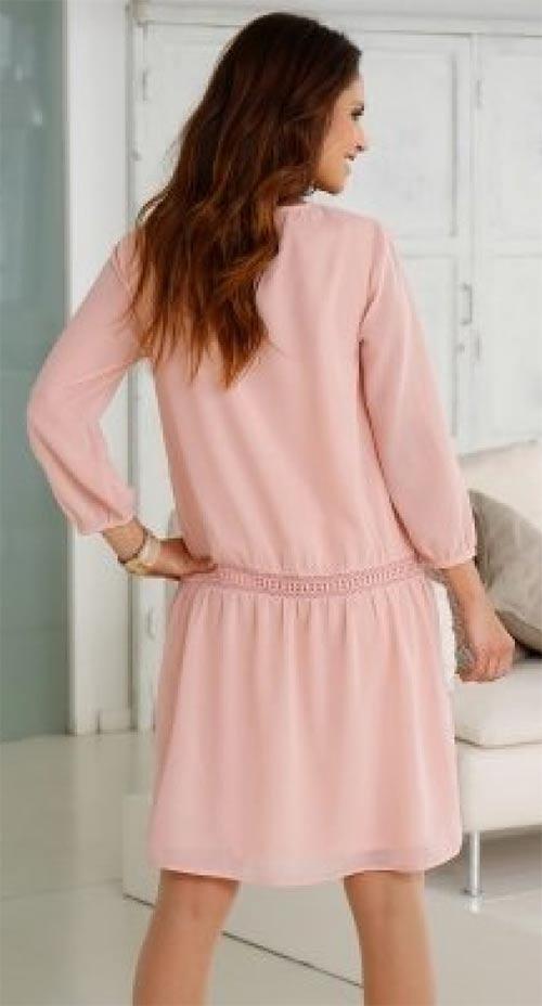 Světle růžové dámské šaty