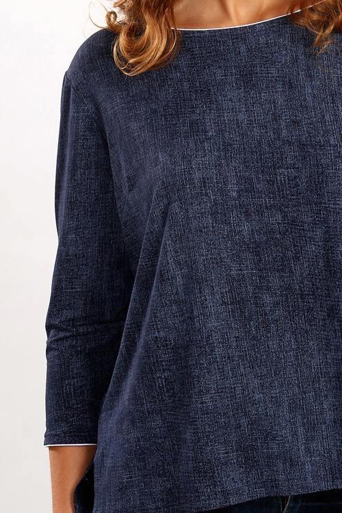 Volné triko džínového vzhledu