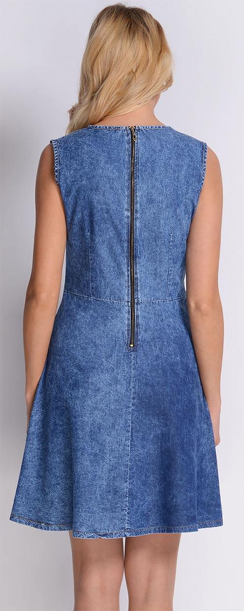 XXL džínové šaty