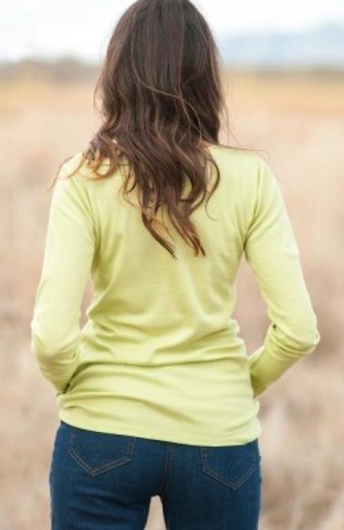 Žluté dámské bavlněné tričko