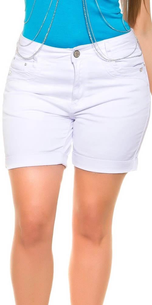 Bílé džínové šortky
