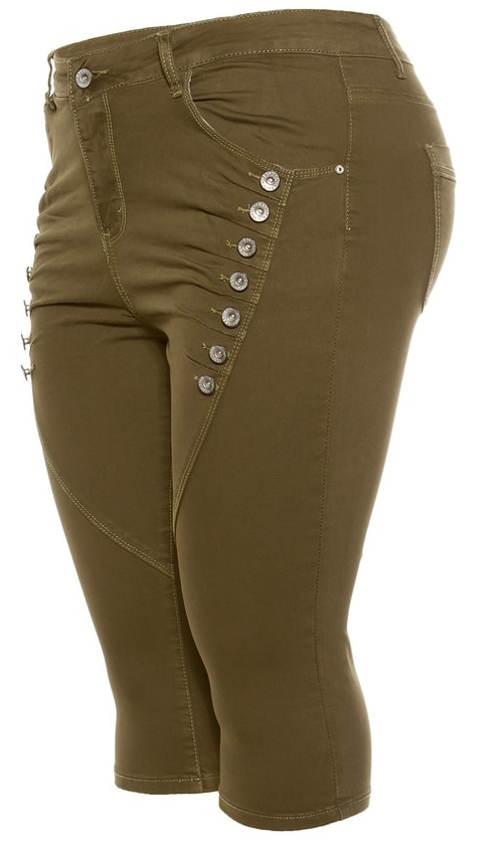 Capri džíny pro plnoštíhlé