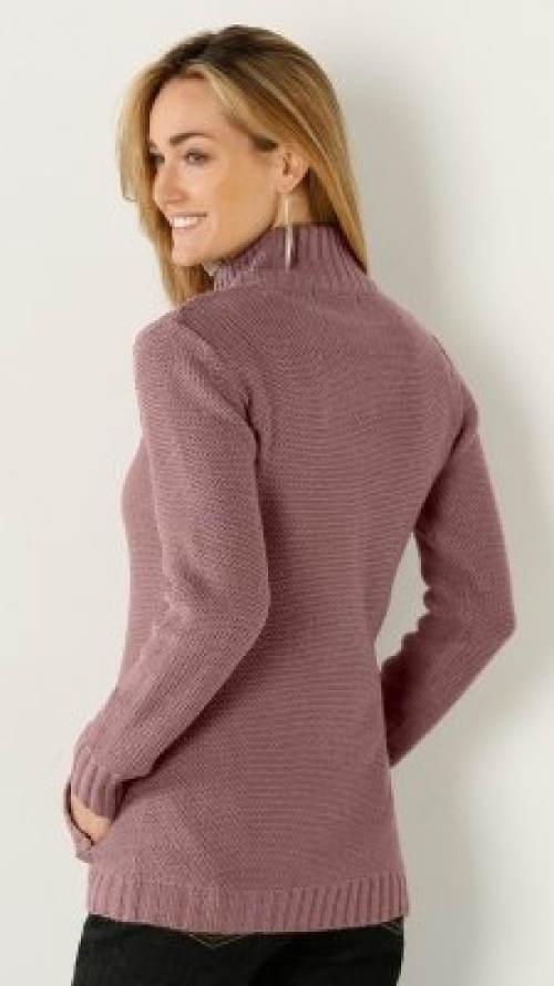 Dámský svetr se stojáčkem