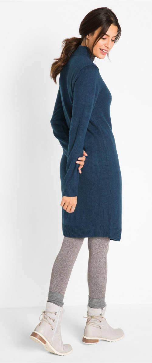 Pletené šaty k legínám